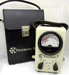 Telewave 44A RF Wattmeter w/Telewave TC44 Deluxe Leather Case (Used) Telewave 44A Wattmeter
